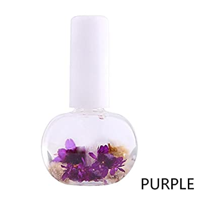 Webla 12ml Nail Cuticle Oil Mix Taste Dried Flowers Nail Care Art Decoration