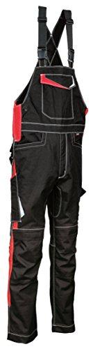 48405 Arbeitslatzhose Modell Viseu, Kollektion Ergowear von Cofra, schwarz/rot (52)