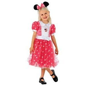 Minnie Mouse Puff Ball Dress Up Outfit - Age 3-5 Years