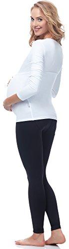 Be Mammy Damen Bauchband 169 Weiß
