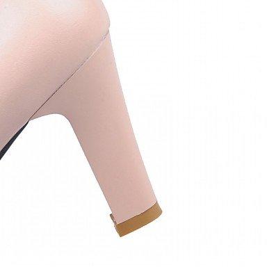 LYNXL Talloni delle donne Primavera Estate Autunno Inverno Dress Comfort novità PU similpelle nozze ufficio & carriera Party & Sera casuale tacco grosso Pink