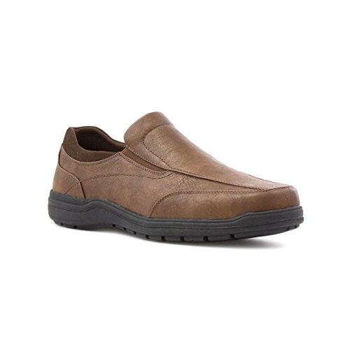hobos-mens-tan-slip-on-casual-shoe-size-8-uk-brown