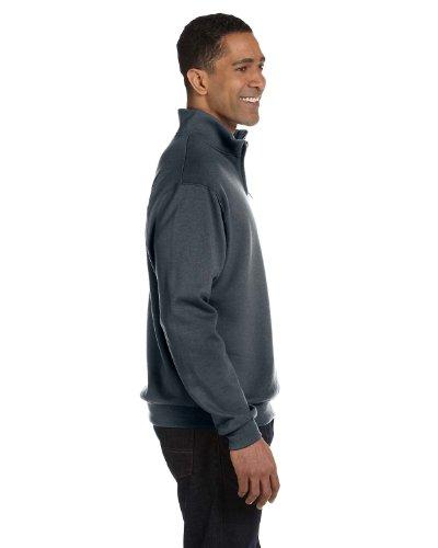 Jerzees Adult Nublend Quarter Zip Cadet Collar Sweatshirt 995 Forest -