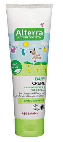 Baby Creme - mit Bio Calendula & Bio-Kamille - Beruhigende Pflege und Schutz vor dem Austrocknen