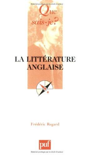 La littérature anglaise par Frédéric Regard