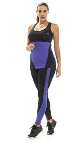 Octave - T-shirt de sport - Femme Multicolore - Violet/noir