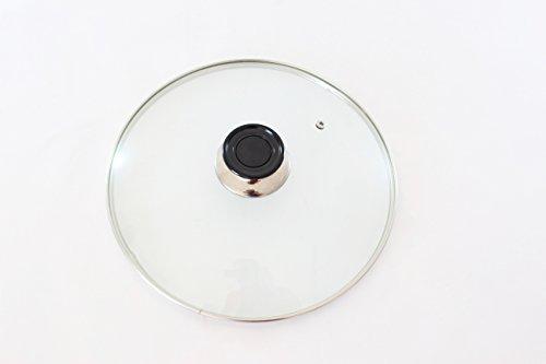 COPERCHIO IN VETRO TEMPERATO PER PADELLA , CASSERUOLA, DIAMETRO DA 16 A 32 CM (26 Centimetri)