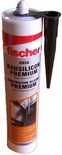 Fischer 512213 DBSA SLG - Premium Bausilicon, schiefergrau, 310 ml - 1 Stück