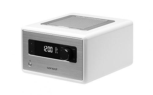 sonoroRADIO Weiß Radio Musiksystem mit Bluetooth und DAB+ Radio, Meditation- und Naturklängen