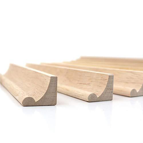 Trimming Shop Ersatz-Buchstaben-Halter aus Holz, Alphabet-Fliesen, gebogenes Gestell für Wortspiele, Kunst und Handwerk DIY-Projekte, 36 cm Länge, 1 Stück, Design-2 (19cm), 5 Stück (Risiko Stück Brettspiel)