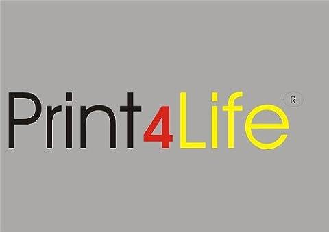 50 feuilles de format A4 auto-adhésives claires transparentes films d'MAT pour imprimantes et photocopieurs (Laser Standard Version + copieur) Epaisseur laser noir et blanc: 0,08 mm