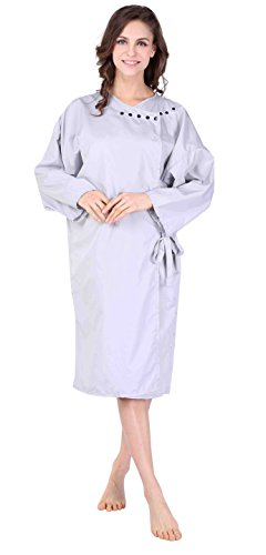 wm-beauty-water-repellent-adjustable-kimono-style-hair-styling-cape-with-sleeves-grey