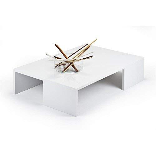 Mobili Fiver, Rachele Table de Salon, Bois, Blanc Laqué Brillant, 90 x 60 x 21 cm