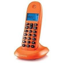 Motorola MOT31C1001NA - Teléfono inalámbrico, dect motorola c1001 naranja