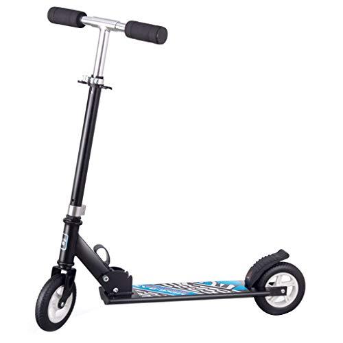 Folding Kick Scooter Aluminiumlegierung Big 2 Wheel Höhenverstellbarer Roller Deluxe Glider für Kinder ab 6 Jahren (Max 130lbs)
