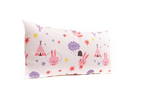 SLEEPAA Kissenbezug Kopfkissen Bezug Ruhekissen Überzug 30x50 cm Waschbar Made in Spain (Pink Rabbit)