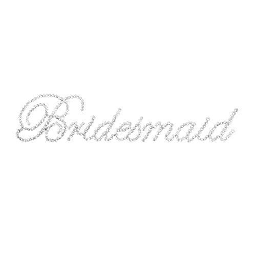 MagiDeal Strass Sticker 'Bridesmaid Aufkleber für Junggesellenabschied Hochzeit Party
