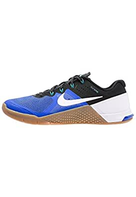 Nike Mens Metcon 2 Synthetic Racer Blue/Black/Gum Medium Brown/White Trainers - 15 D(M) US