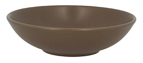 TheKitchenette - ALFA - Lot de 4 assiettes CREUSES en faïence - taupe - 20.5 cm