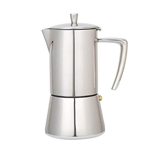 Cafetera de acero inoxidable Cafetera Moka Cafetera Tetera Mocha Estufa Filtro de la herramienta Percolador...