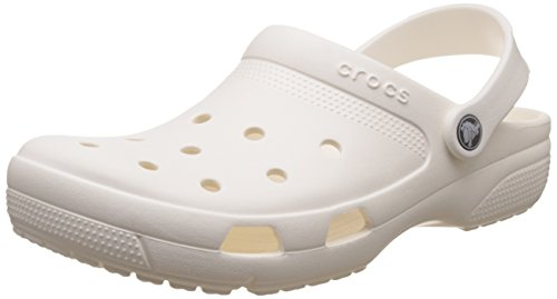 Crocs Coast, Zuecos Unisex Adulto, Blanco (White 100b), 37/38 EU