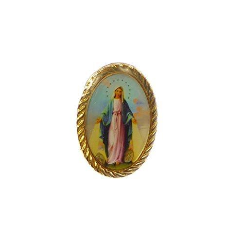 Goldene Farbe Metall wunderbare Mary-Anstecknadel 2,5 cm katholische [Schmuck]