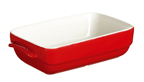 Pyrex 4936808 Mini Plat Rectangulaire 14 x 8 cm Rouge Ceramic Wave