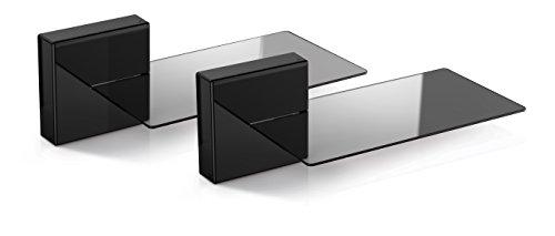Meliconi ghost cube soundbar nero, sistema copricavi componibile con mensola in vetro ideale per soundbar