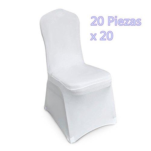 20 Fundas Elástica para Sillas - Color Blanco