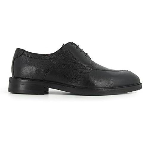 Peter Blade - Zapatos Hombre De Vestir Derby Cuero PLATOON Negro