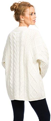 Strickpullover Damen - 90% Merino / 10% Kaschmir - von Citizen Cashmere Weiß