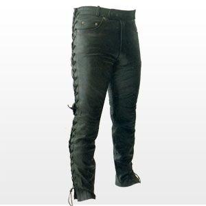 Pantalones de cuero - Con cordones - Talla XXL