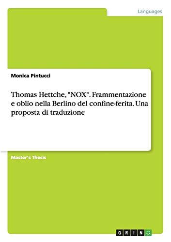 Nox por Hettche, Thomas