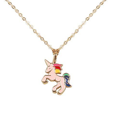 Arendelle Pink Unicorn Charm Pendant Set [APD029]