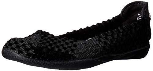 Bernie Mev Women's Braided Catwalk Black Velvet Flats