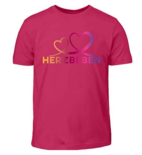 Herzbeben - Bunte Herzen - Liebe Helene - Kinder T-Shirt -9/11 (134/146)-Sorbet