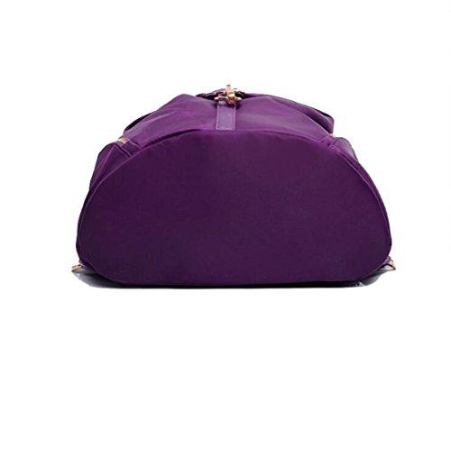 MYLL Zaino In Nylon Borse Scuola Daypack Resistente Allacqua Zaino Ideale Per Le Donne Ladies Girls College Gym Work Sports,Blue Purple