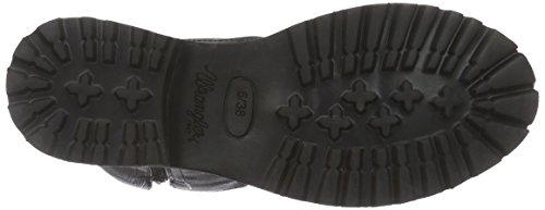 Wrangler Arizona Damen Biker Boots Schwarz (62 Black)