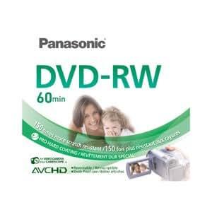 Panasonic 8cm double face DVD-RW 2,8Go 60Minute caméscope Disques Lot de 3disques