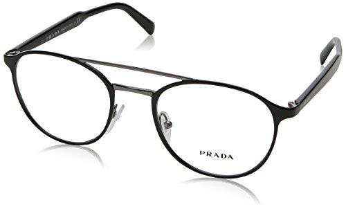 Prada - PRADA PR 60TV, Rechteckig, Metall, Herrenbrillen, BLACK(1AB1O1), 49/20/140