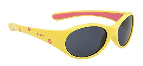 Alpina Mädchen Sonnenbrille Line FLEXXY yellow-rose, One Size