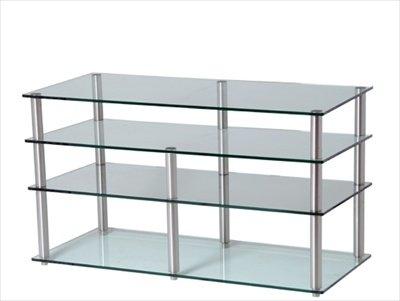 Frosted Glas-tv-ständer (GEM Slender 5shelf frost/KOL TV/Hifi-Ständer 800 x 400)