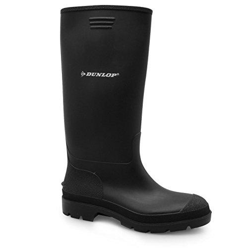 Dunlop Kinder Jungen Wellington Gummistiefel Wasserdicht Wadenhohe Stiefel Schuh Schwarz
