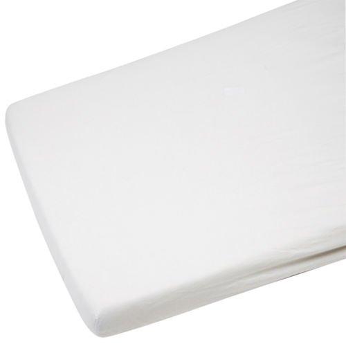 2x Kleinkind/Junior Bett 100% Baumwolle Jersey Spannbettlaken Spannbetttuch Weiß 140x 70cm