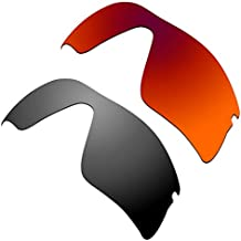 HKUCO Lentes de Repuesto para Oakley Radar Range 53-097 Rojo Negro Gafas de a8e2742566
