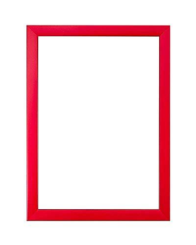 Cornice in stirene ad alta trasparenza con foglio di plexiglas infrangibile e un pannello posteriore in legno mdf, colori dell'arcobaleno, plastica, red, a3