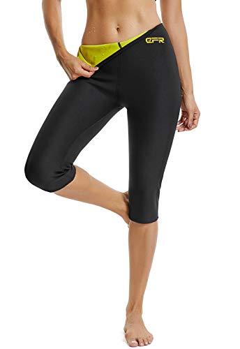 Fittoo sauna pants donna hot pantaloni donna pantaloncino pantaloni dimagranti fitness snellente