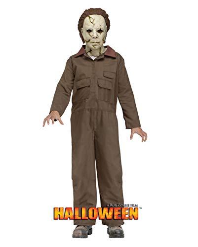 Zombie Myers Kostüm Kind Michael Rob - Horror-Shop Michael Myers Kinder Kostüm mit Maske für Halloween 12-14 Jahre