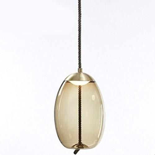 INJUICY Tom Dixon Lampe Suspensions Lustre Plafonniers en Verre Eclairage de Plafond pour Chambre D'enfant Salon Salle à Manger Bar Restaurant Escalier (Ambre, A)