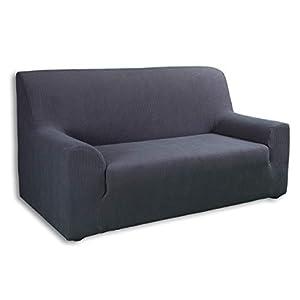 Tural – Grau Elastischer Sofabezug 2 Sitzer (130-160cm). Sofa-Überwürfe Sesselbezug Sesselhusse Sofaüberwurf. Erhältlich in verschiedenen Farben und Größen.